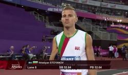 Стоянов завърши пети на 400 метра на Световното (ВИДЕО)